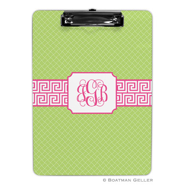 Greek Key Band Pink Clipboard
