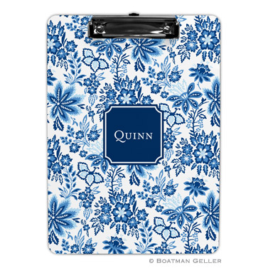 Classic Floral Blue Clipboard