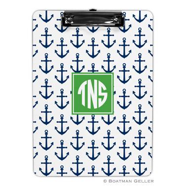 Anchors Navy Clipboard