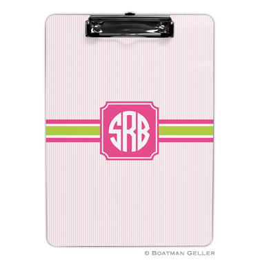 Seersucker Band Pink & Green Clipboard