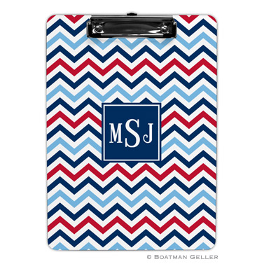 Chevron Blue & Red Clipboard