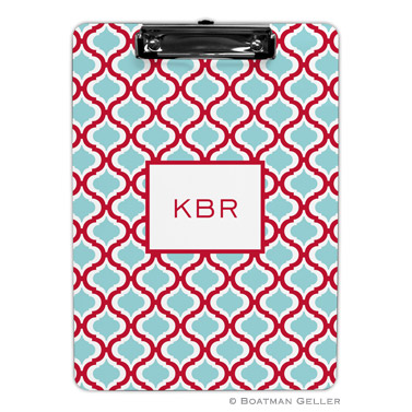 Kate Red & Teal Clipboard