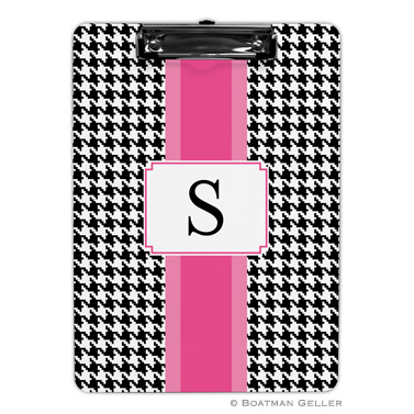 Alex Houndstooth Black Clipboard