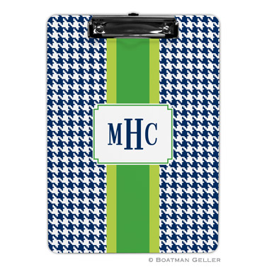 Alex Houndstooth Navy Clipboard