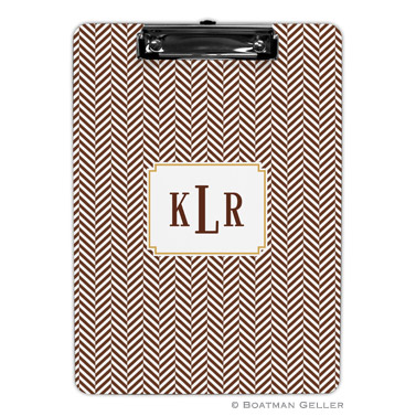 Herringbone Chocolate Clipboard