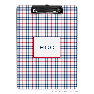 Miller Check Navy & Red Clipboard