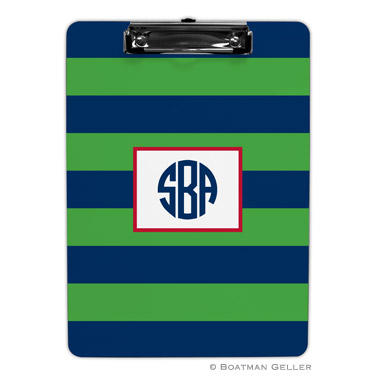 Rugby Navy & Kelly Clipboard by Boatman Geller