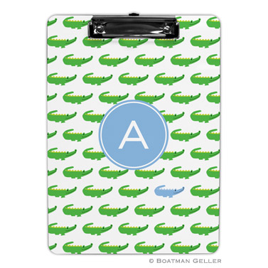 Alligator Repeat Blue Clipboard