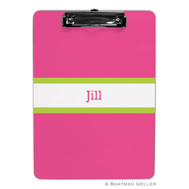 Stripe Raspberry & Lime Clipboard