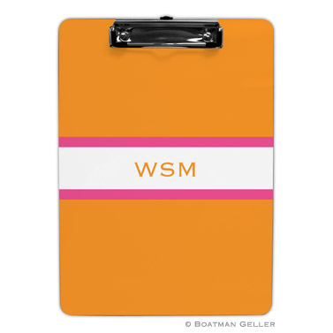 Stripe Tangerine & Raspberry Clipboard