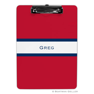 Stripe Red & Navy Clipboard