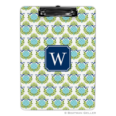 Pineapple Repeat Teal Clipboard
