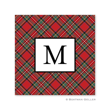 Plaid Red  Holiday Paper Coasters
