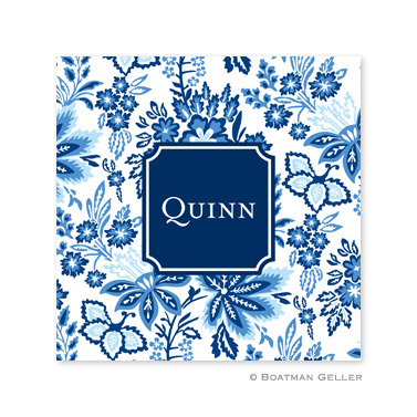 Classic Floral Blue Coasters