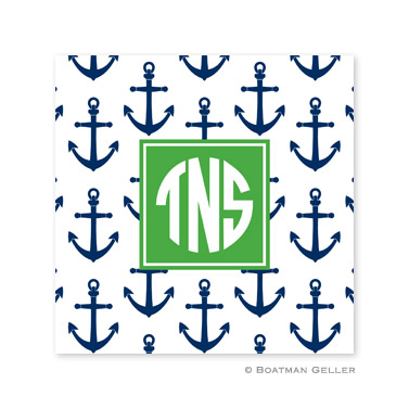 Anchors Navy Coasters