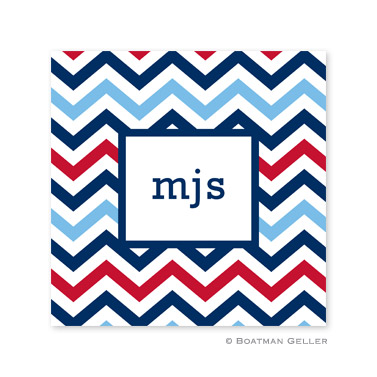 Chevron Blue & Red Coasters