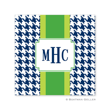 Alex Houndstooth Navy Coasters