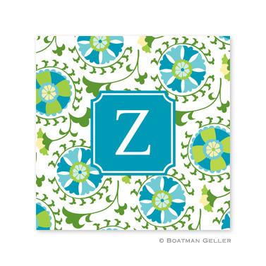 Suzani Teal Coasters