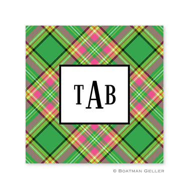 Preppy Plaid Holiday Paper Coasters