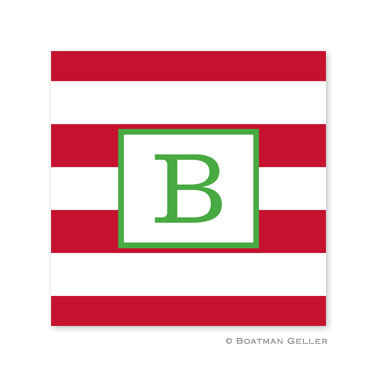 Awning Stripe Red Holiday Paper Coasters