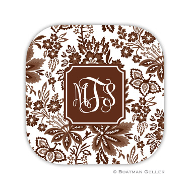 Classic Floral Brown Coaster