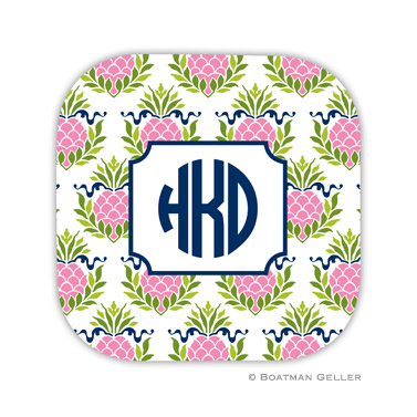 Pineapple Repeat Pink Coaster