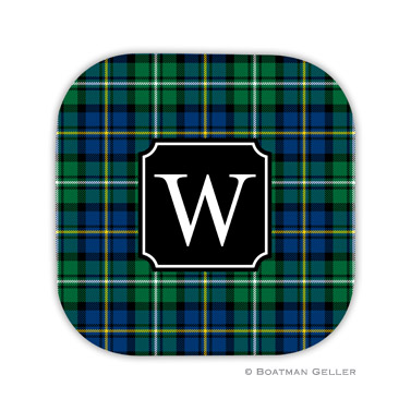 Black Watch Plaid Holiday Coaster - set of 4