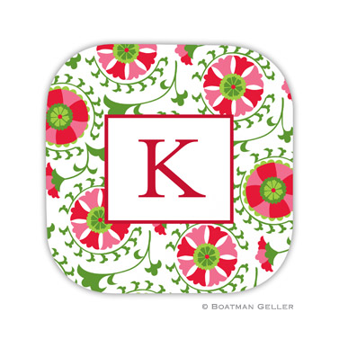 Suzani Holiday Coaster - set of 4