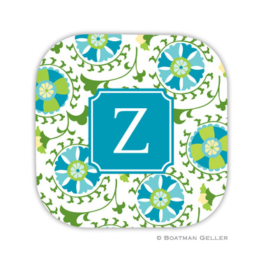 Suzani Teal Coaster