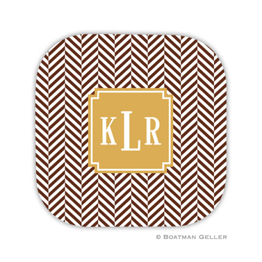 Herringbone Chocolate Coaster