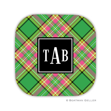 Preppy Plaid Holiday Coaster - set of 4