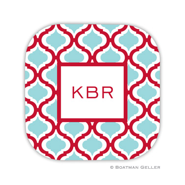 Kate Red & Teal Coaster