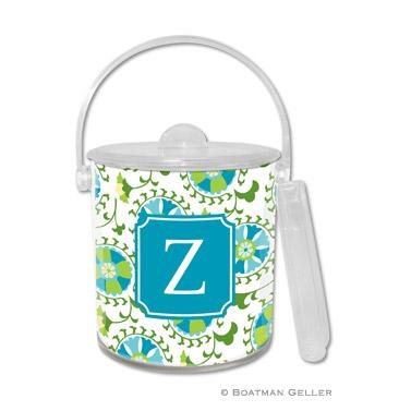Suzani Teal Ice Bucket