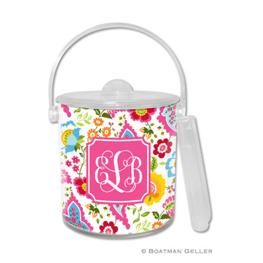 Bright Floral Ice Bucket