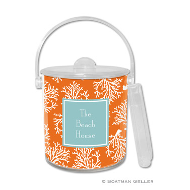 Coral Repeat Ice Bucket