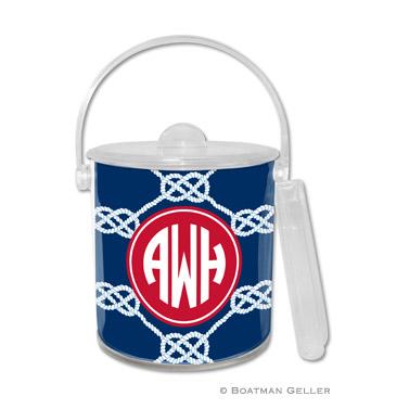 Nautical Knot Navy Ice Bucket