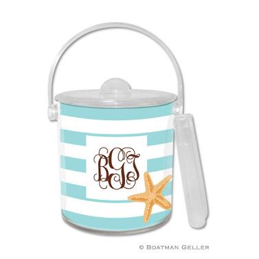 Stripe Starfish Ice Bucket