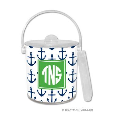Anchors Navy Ice Bucket