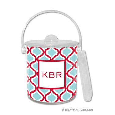 Kate Red & Teal Ice Bucket
