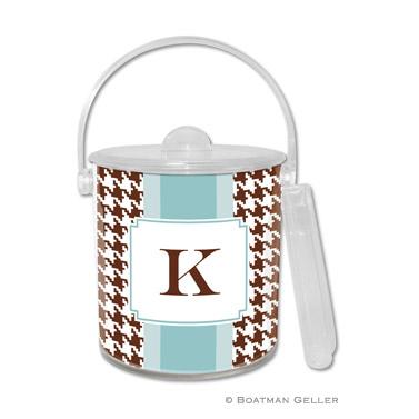 Alex Houndstooth Chocolate Ice Bucket