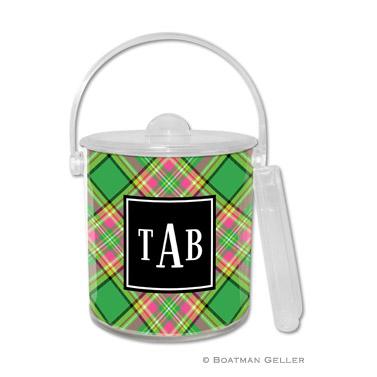 Preppy Plaid Holiday Ice Bucket
