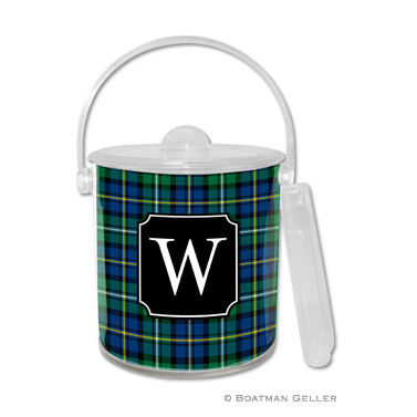 Black Watch Plaid Holiday Ice Bucket