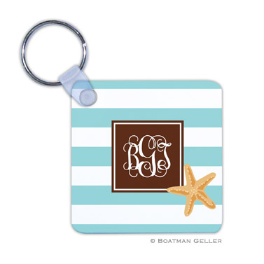 Stripe Starfish Key Chain