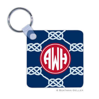 Nautical Knot Navy Key Chain