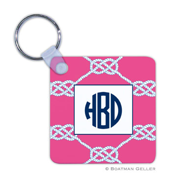 Nautical Knot Raspberry Key Chain