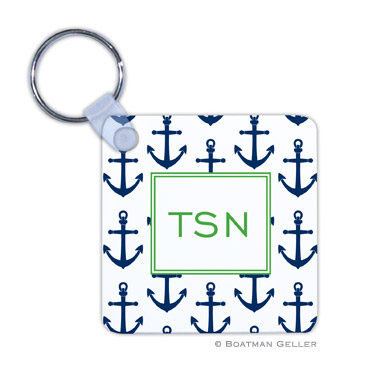 Anchors Navy Key Chain