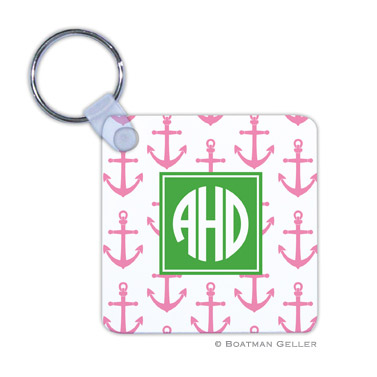 Anchors Pink Key Chain