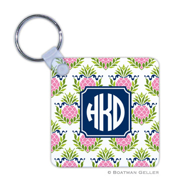 Pineapple Repeat Pink Key Chain