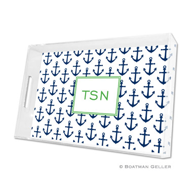 Anchors Navy Large Tray