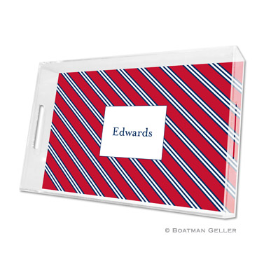 Repp Tie Red & Navy Large Tray